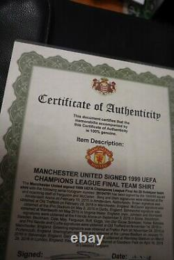 1999 Manchester United Uefa Champions Signed Shirt/jersey + Coa
