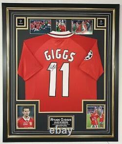 1999 Ryan Giggs of Manchester United Signed Shirt Jersey Aftal Dealer COA