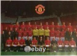 2008 09 Manchester United Football Signed 16 Scholes Park Giggs COA Man Utd Ball