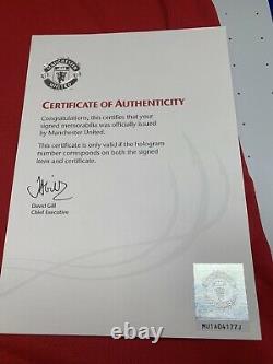 2010 2011 Dimitar Berbatov Manchester United Signed Shirt Man Utd BNWT New COA