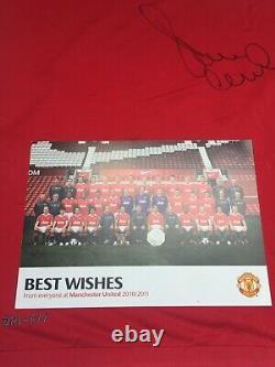 2010 2011 Paul Scholes Manchester United Signed Shirt Man Utd COA England BNWT