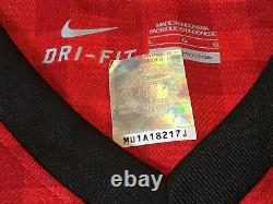 2012 2013 Manchester United Club COA Anderson Signed Football Shirt Man U