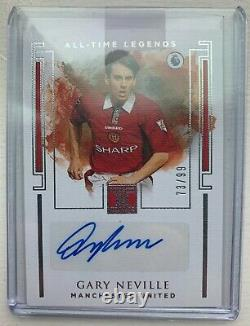 2019-20 PANINI IMPECCABLE PREMIER Gary Neville Manchester United AT-GN