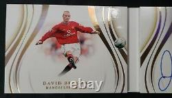 2020 Immaculate Soccer Booklet David Beckham Signed AUTO 9/49 Manchester United