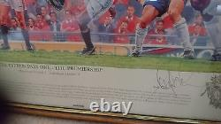 A set of 3 signed Manchester United'the trebble' limited edition prints