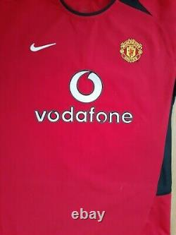 Authentic Ryan Giggs Manchester United Signed Autographed Shirt Awesome Item