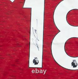 BRUNO FERNANDES hand signed Manchester United 2020 number CERTIFICATE £175