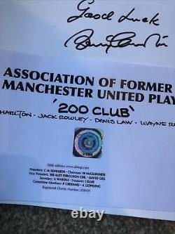 Bobby Charlton Denis Law Wayne Rooney signed Manchester United, limited Edition