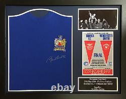 Bobby Charlton Framed Signed Manchester United 1968 Football Shirt + Proof & Coa