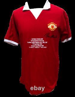 Bobby Charlton Signed Limited Edition Manchester United Football Shirt Proof Coa