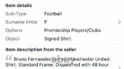 Bruno Fernandes Manchester United Shirt Personally Signed With COA