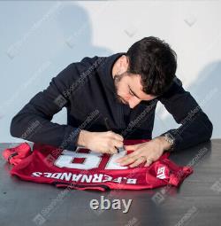 Bruno Fernandes Signed Manchester United Shirt 2020-2021, Number 18 MUFC