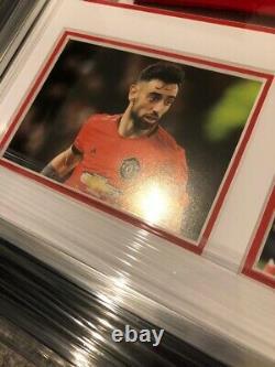 Bruno Fernandes Signed Manchester United Shirt Framed With COA