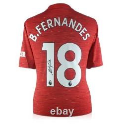 Bruno Fernandes Signed Manchester United Shirt. In Gift Box