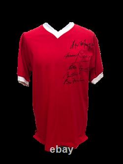 Busby Babes Signed Manchester United 1958 Football Shirt Charlton, Foulkes Proof