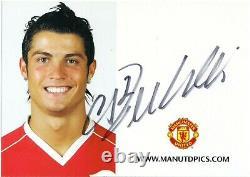 CRISTIANO RONALDO Hand Signed 2007 Club Card Manchester United RARE Autograph