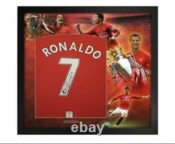 CRISTIANO RONALDO SIGNED Framed Manchester United 2008 Shirt COA photo proof