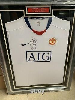 CRISTIANO RONALDO SIGNED Framed Original Manchester United from 1st TimeCoa £599