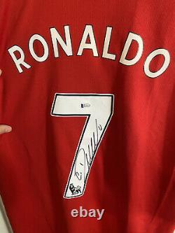 Christiano Ronaldo Signed Manchester United Jersey Beckett COA Adidas