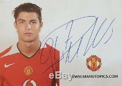 Cristiano Ronaldo CR7 authentic Autograph signed @ Lisbon, Manchester United