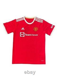 Cristiano Ronaldo Hand Signed Manchester United 2021/2022 Football Shirt