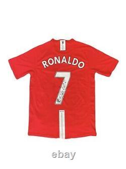 Cristiano Ronaldo Hand Signed Manchester United Football Shirt