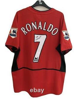 Cristiano Ronaldo Manchester United Premier League Hand Signed Shirt