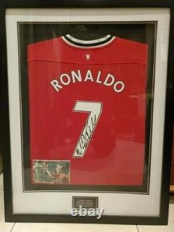 Cristiano Ronaldo Signed Authentic Manchester United Jersey Framed