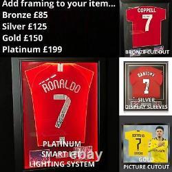 Cristiano Ronaldo Signed Manchester United 21/22 Shirt With COA