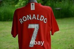 Cristiano Ronaldo Signed Manchester United Football Shirt with CoA charity