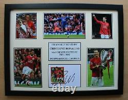 Cristiano Ronaldo Signed Manchester United Multi Picture Career Display (21056)