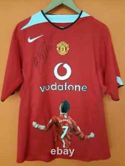 Cristiano Ronaldo Signed Manchester United Nike jersey Trikot PSA COA Autogramm