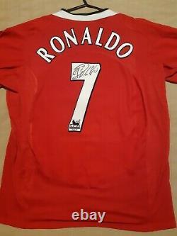 Cristiano Ronaldo Signed Number 7 Manchester United Man Utd 2004 Shirt