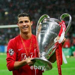 Cristiano Ronaldo Signed Shirt Manchester United 2008 Champions League COA Frame