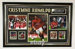 Cristiano Ronaldo of MANCHESTER UNITED Signed Photo Picture Autographed Display