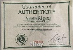 DAVID BECKHAM Autograph Signed GOLD Jersey Manchester United Plaque FRAMED COA