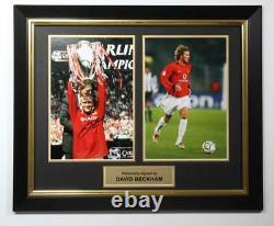 DAVID BECKHAM hand signed Manchester United photo frame presentation RARE