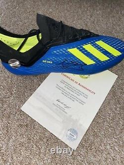 DAVID DE GEA Signed Football Boot CLUB COA MAN UTD MANCHESTER UNITED Match Issue