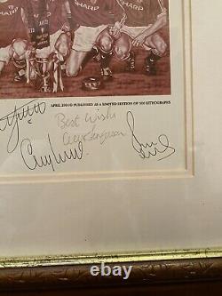 DYNASTY Manchester United Busby Ferguson Framed Print Signed by LEGENDS