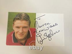 David Beckham Hand Signed Autograph Manchester United Club Card 1994-1995