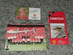 David Beckham Hand Signed Manchester United Club Card Man Utd Autograph 02-03