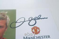 David Beckham Manchester United Man U Signed Official Club Card Autographed Auto