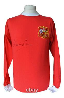Denis Law SIGNED Shirt Autograph Manchester United New PROOF AFTAL Gift Box COA