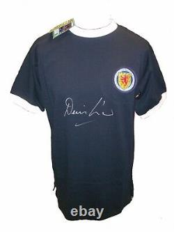 Denis Law Signed Scotland Football Shirt With Coa & Proof Manchester United