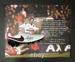 Dome Framed Manchester United Ryan Giggs Signed Nike Football Boot Proof & Coa