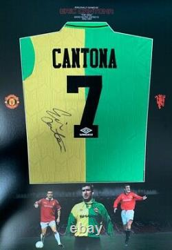 ERIC CANTONA hand signed Manchester United FC shirt