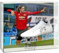 Edinson Cavani Hand Signed Manchester United Football Boot Large Display COA