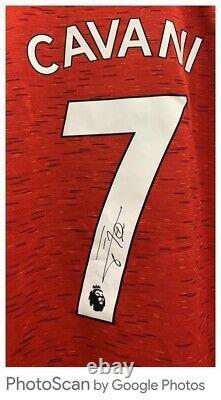 Edinson Cavani Signed Manchester United Shirt With A1 COA £150
