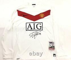 Edwin Van Der Sar Signed Manchester United Goal Keeper Jersey JSA Coa