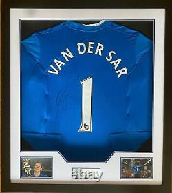 Edwin van der Sar Signed & FRAMED Manchester United Jersey AFTAL COA (WOF)